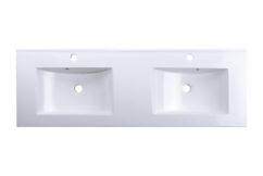 Umywalka dwukomorowa podwójna