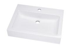 Umywalka prostokątna nablatowa 54×40