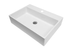Umywalka prostokątna nablatowa 60×42
