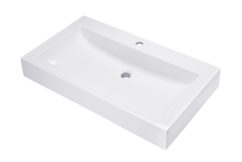 Umywalka prostokątna nablatowa 80×46